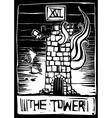 Tower Tarot vector image
