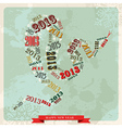 Vintage Happy New year 2013 concept snake vector image