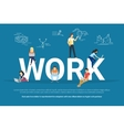 Work concept vector image