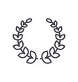 wreath line icon sign on vector image