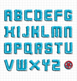Water pipe alphabet vector image