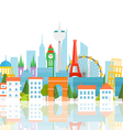 Dirrefent world famous sights Vacation travelling vector image vector image