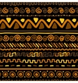 Handmade pattern with ethnic geometric ornament vector image