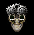 Steam punk skull vector image vector image