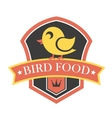 Bird food emblem vector image