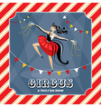 Vintage card with acrobat girl vector image