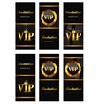 VIP Members Card Set vector image