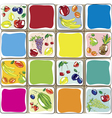 fruits designs for the kitchen vector image