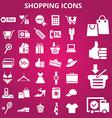 Shoppingicons vector image