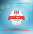 Happy Valentines Day Retro Label Valentines Day vector image