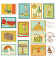 Summer and Sea elements vector image