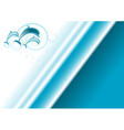 Banner three dolphins vector image
