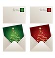 christmas mail vector image