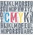 Cmyk alphabet poster vector image