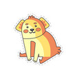 cute funny puppy colorful cloth patch applique vector image