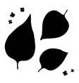 Lilac leaf silhouettes on white background vector image