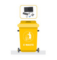 rubbish container for e-waste icon recycle sorting vector image