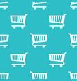 seamless pattern shopping cart vector image