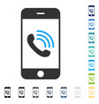 smartphone call icon vector image