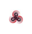 spinner logo design bearing cool modern device vector image
