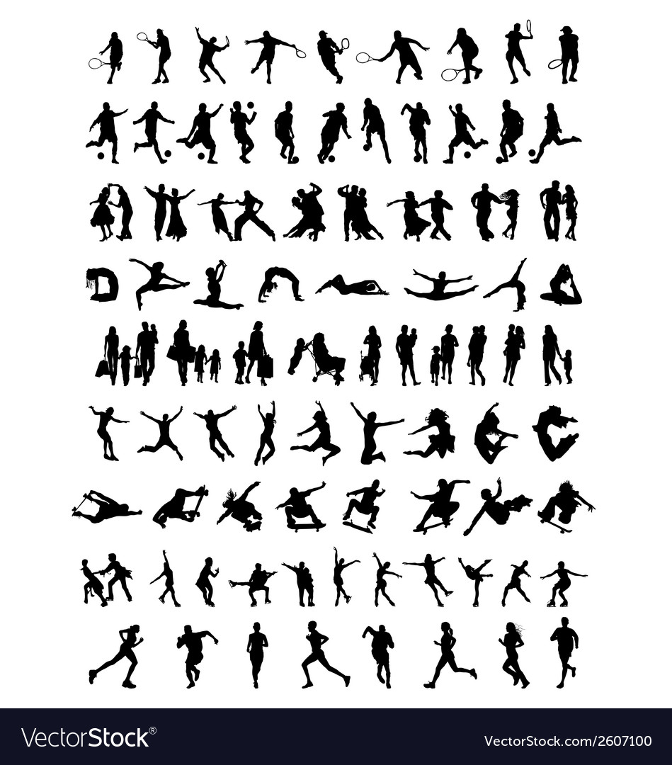 Silhouettes of people 3 vector
