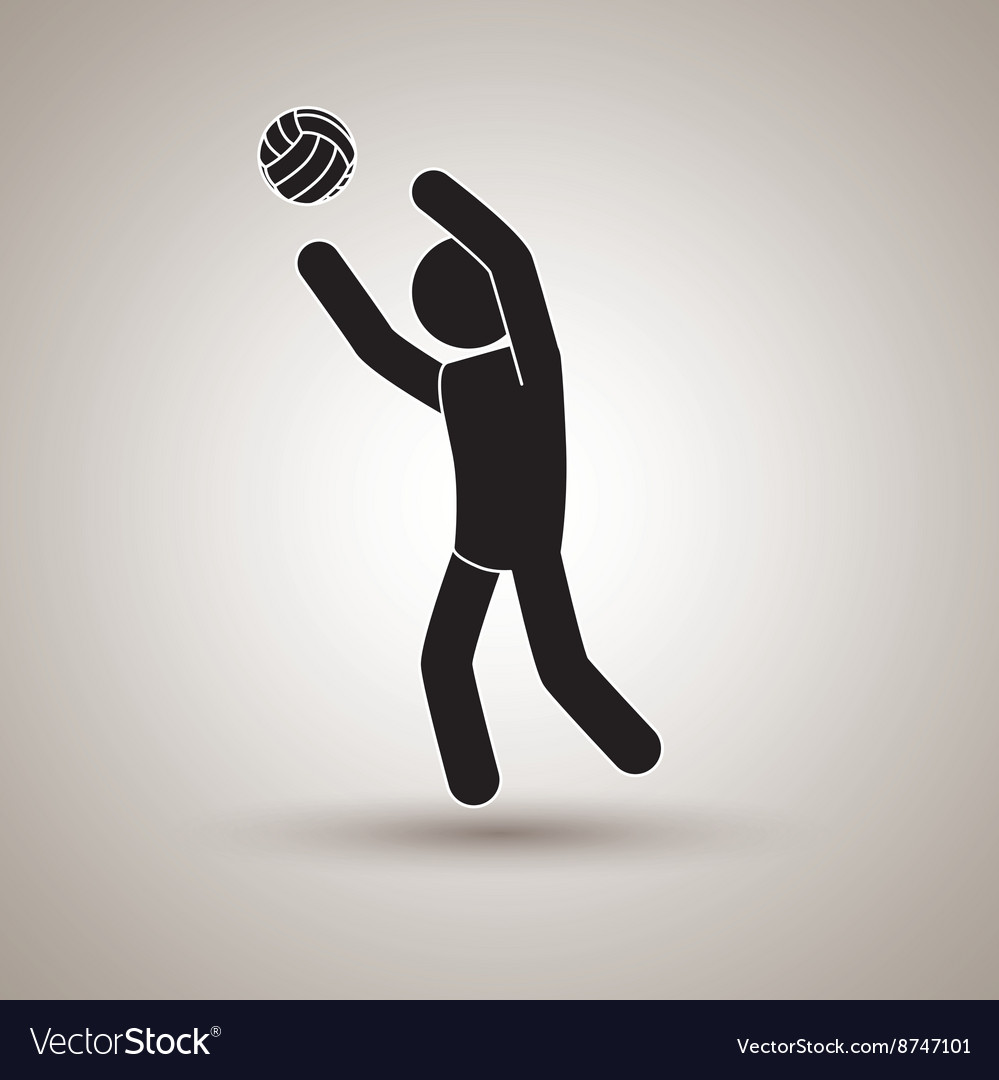 Volleyball player design vector