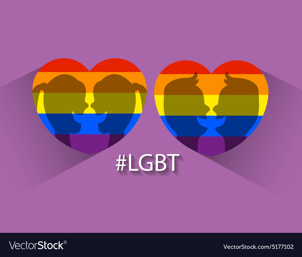 Heart in lgbt colors vector