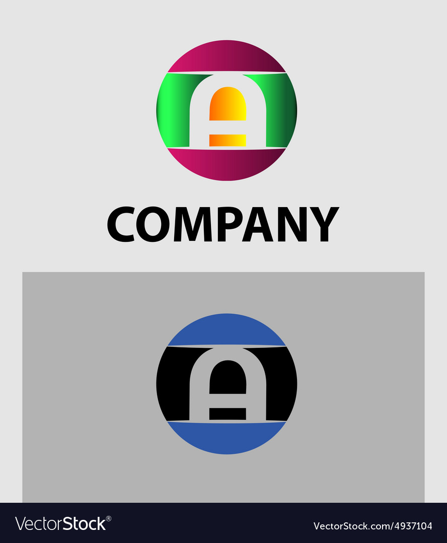 Set of letter a logo icons design template element vector