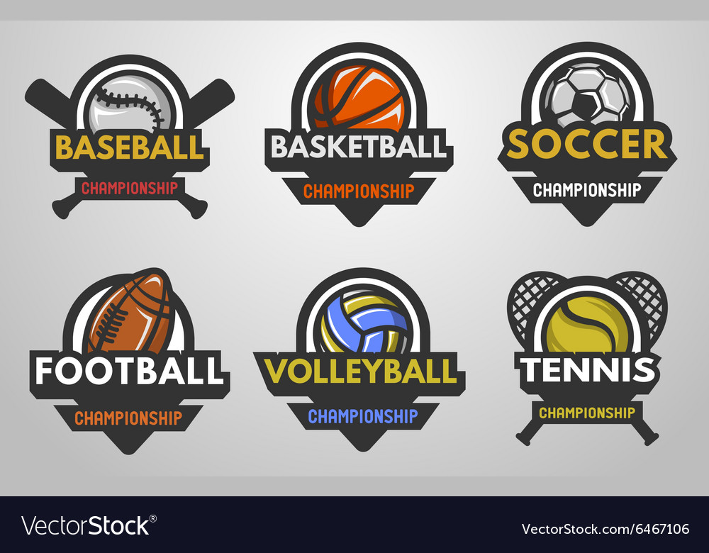 Set of sports logos vector