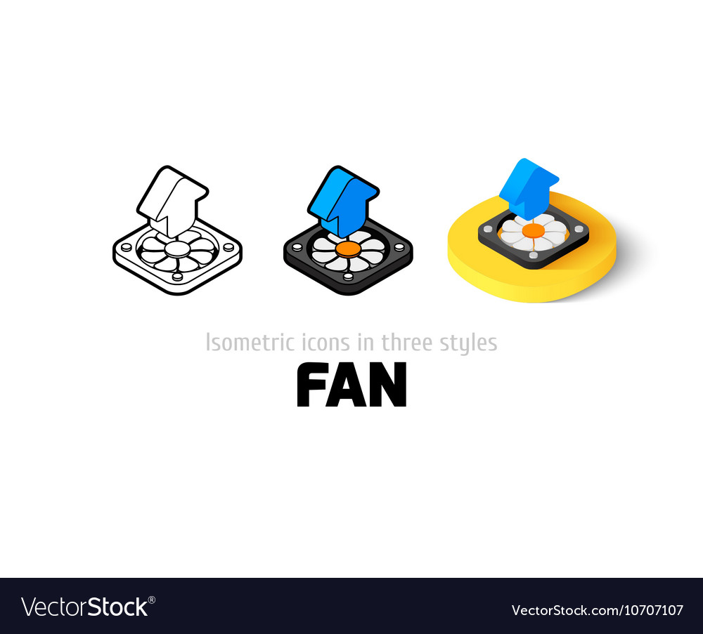 Fan icon in different style vector