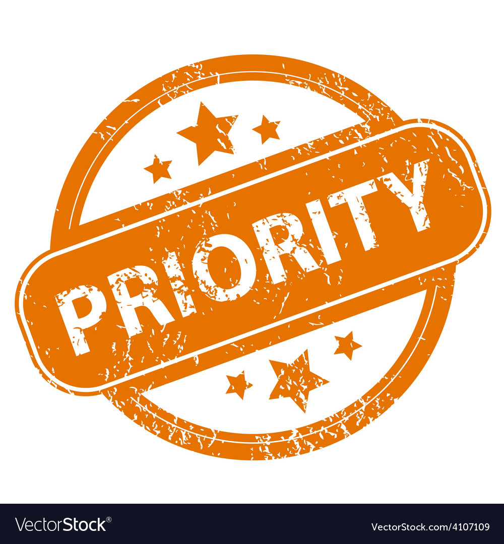 Priority grunge icon vector
