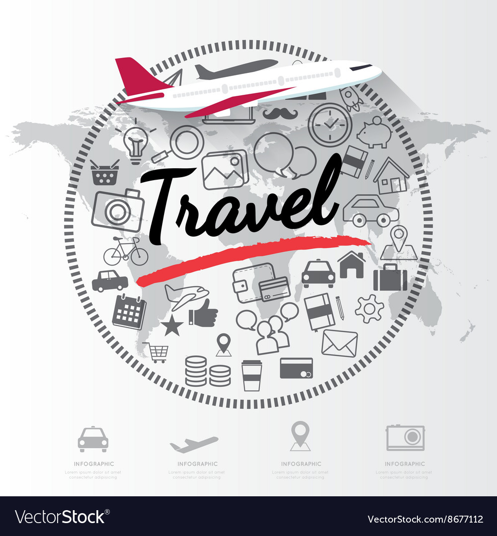 Modern infographic for travel concept vector
