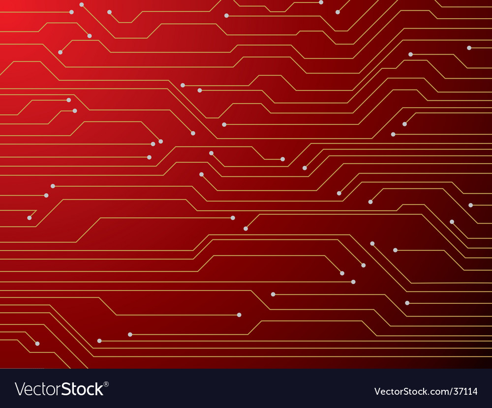 Circuit board red vector