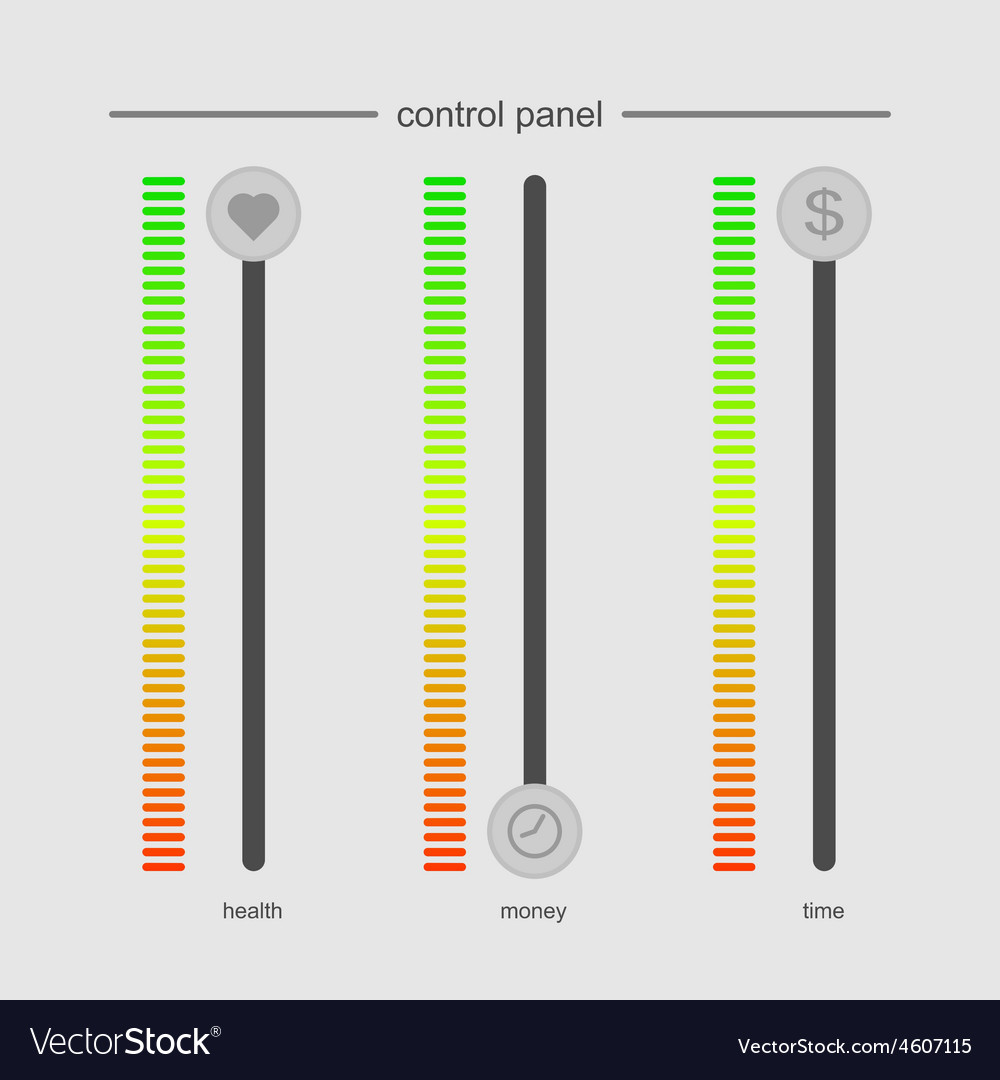 Control panel design concept work and life no vector