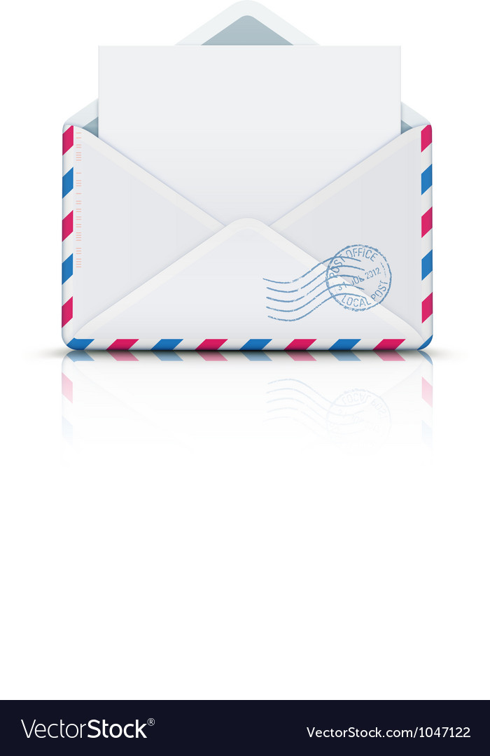 Airmail envelope vector