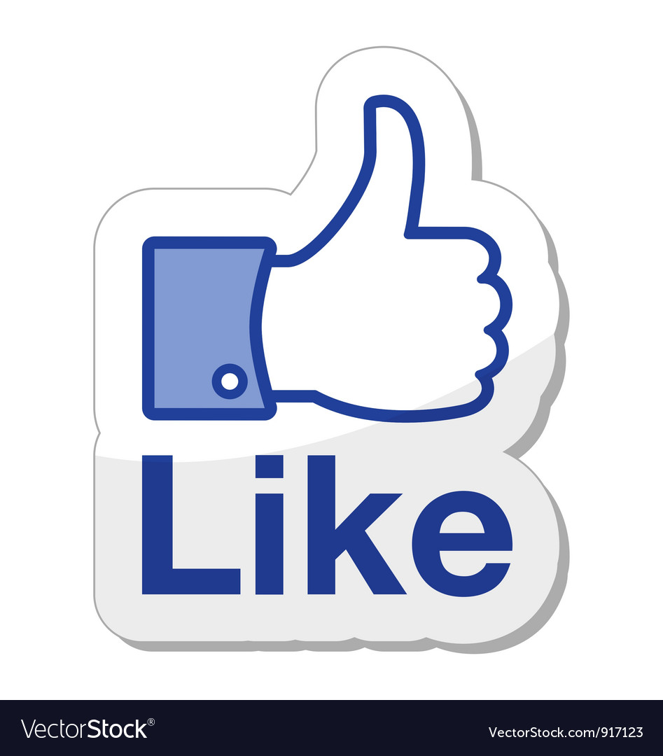Like it button vector