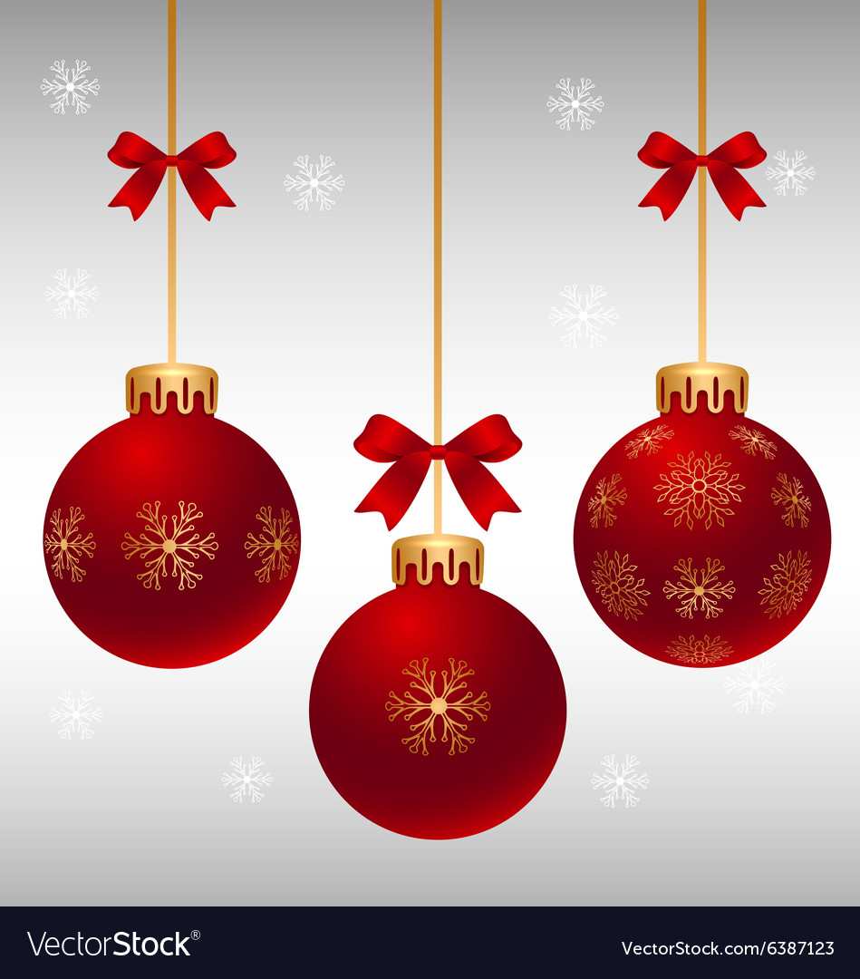 Red christmas ball design vector