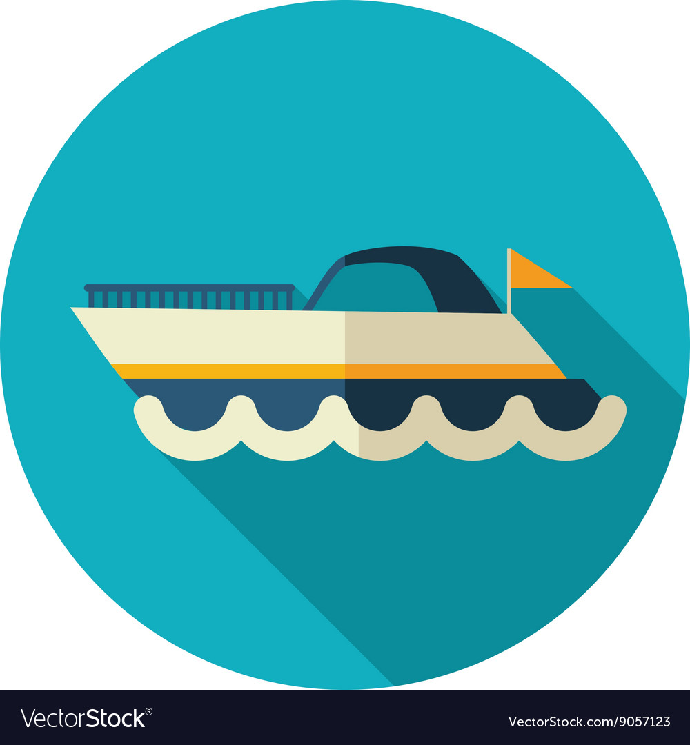 Ship boat flat icon summer vacation vector