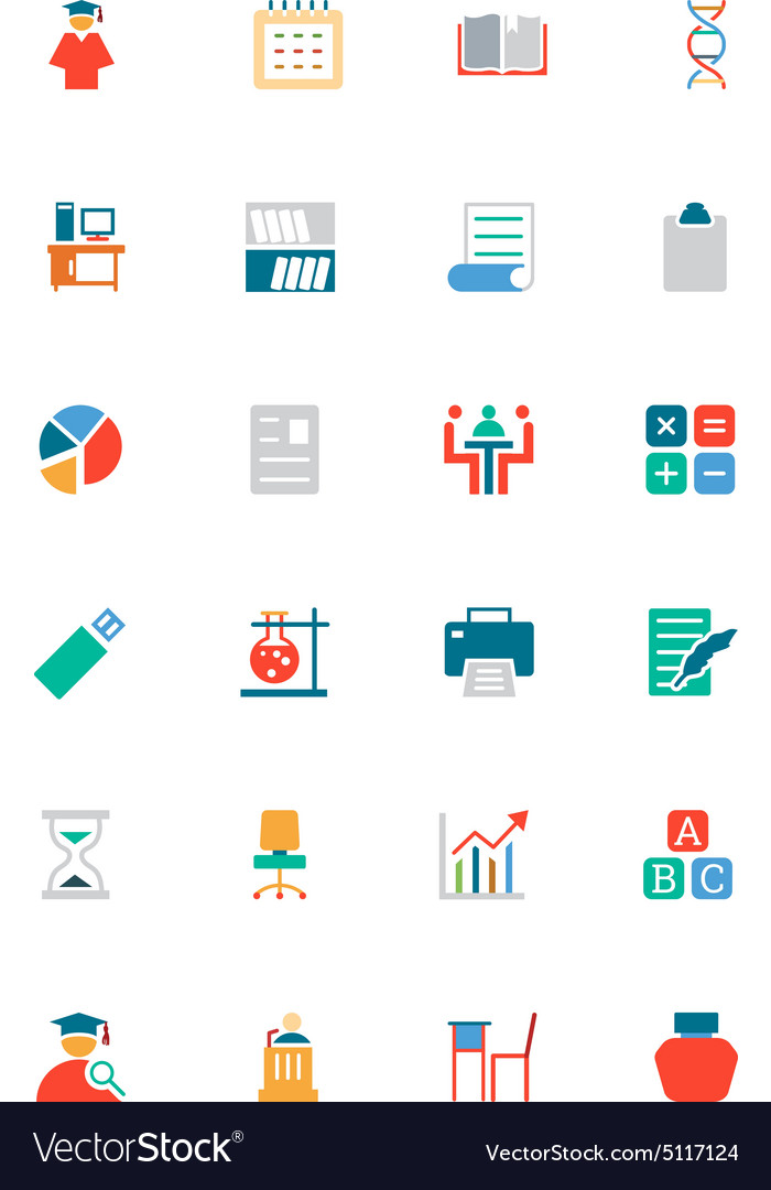 Education colored icons 12 vector