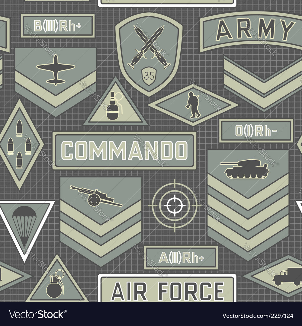 Seamless military pattern 10 vector