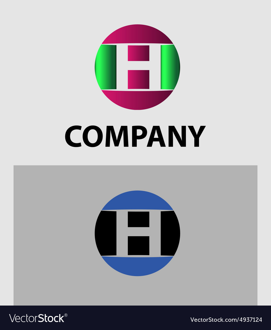 Set of letter h logo icons design template element vector