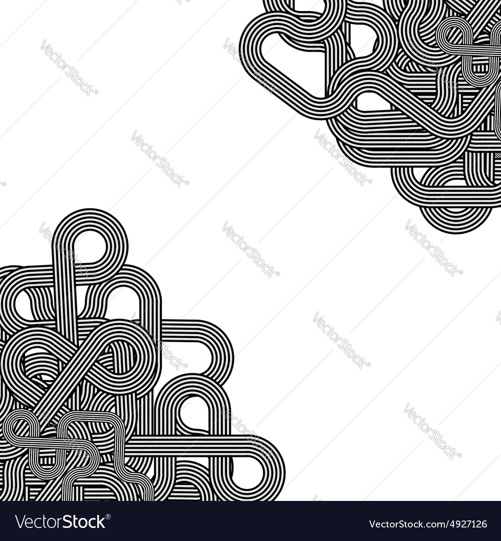 Line retro ornament vector