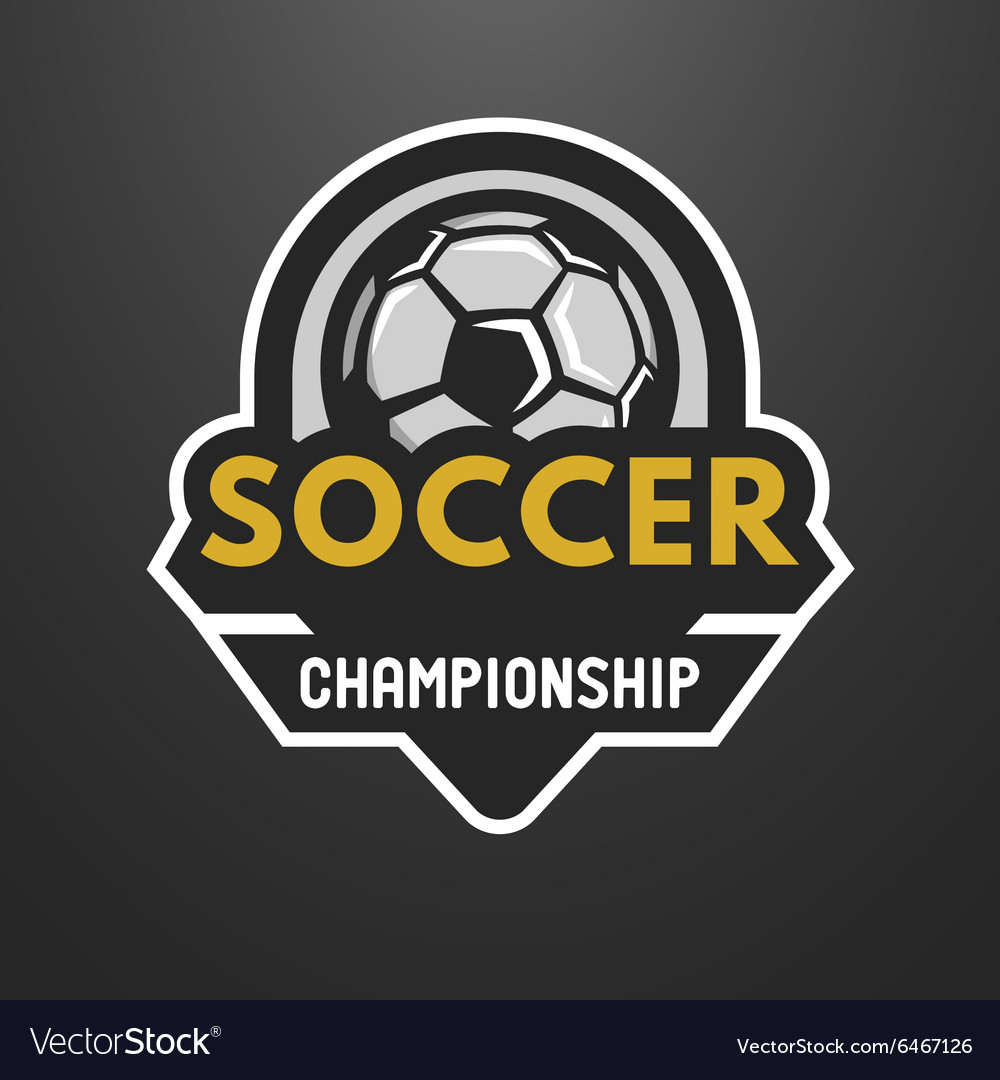 Soccer sports logo label emblem vector