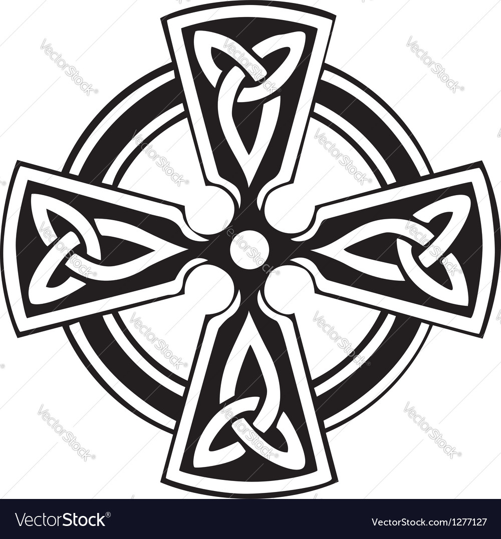 Celtic cross vector
