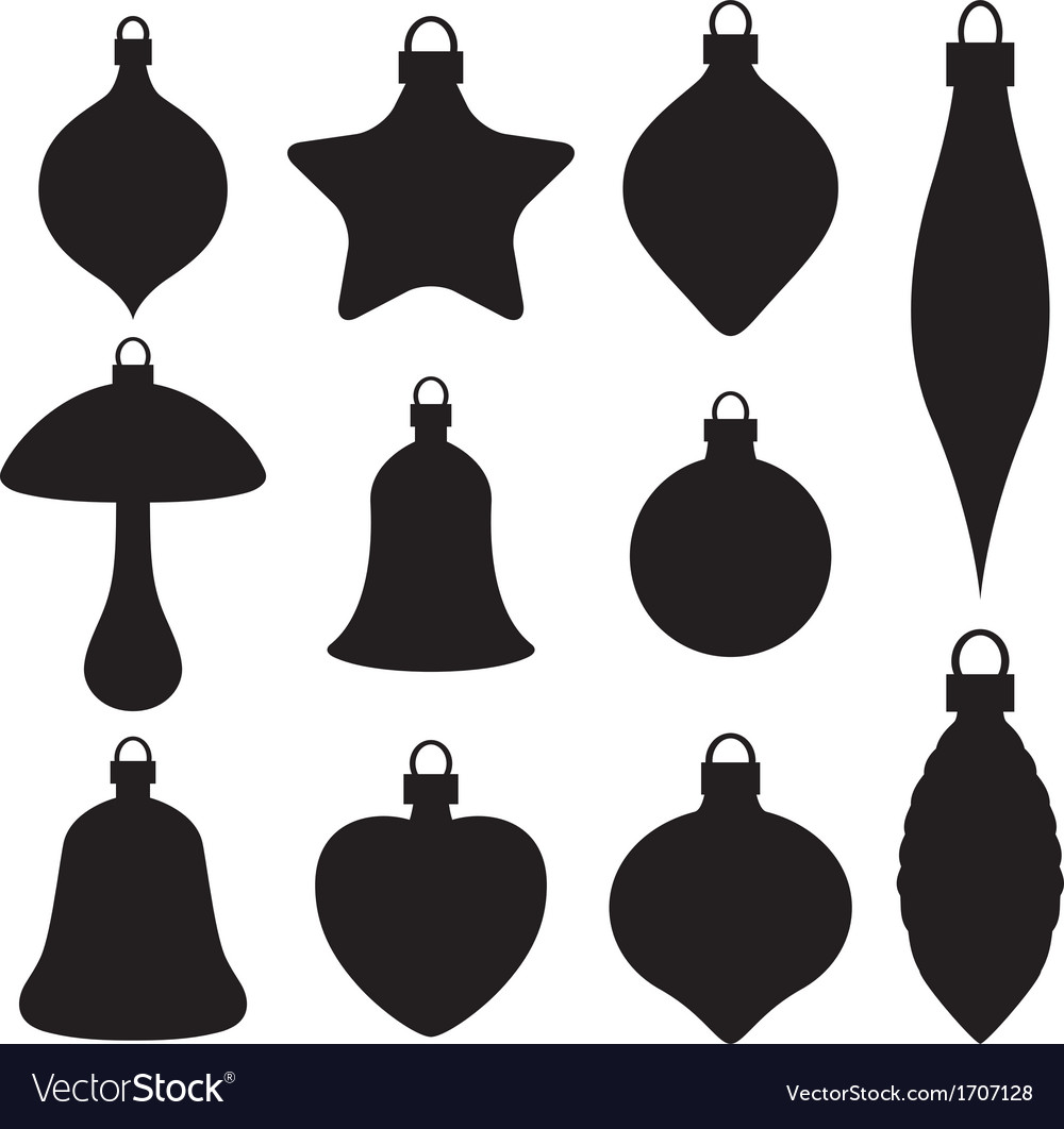 A set of christmas baubles vector