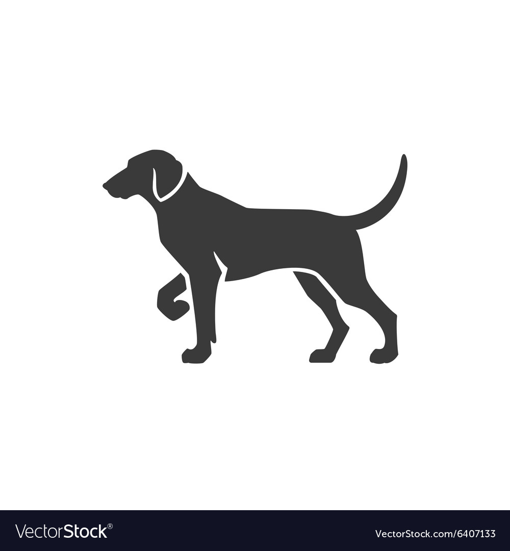 Dog side view isolated on white background vector
