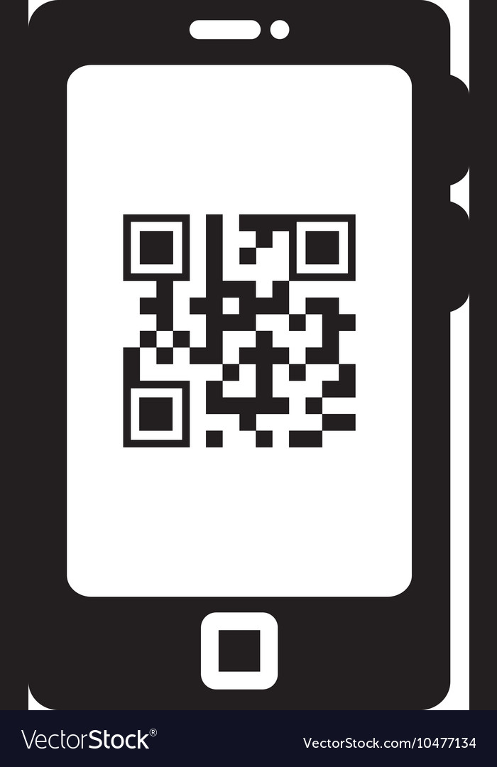 Smart phoneqr quick response code vector
