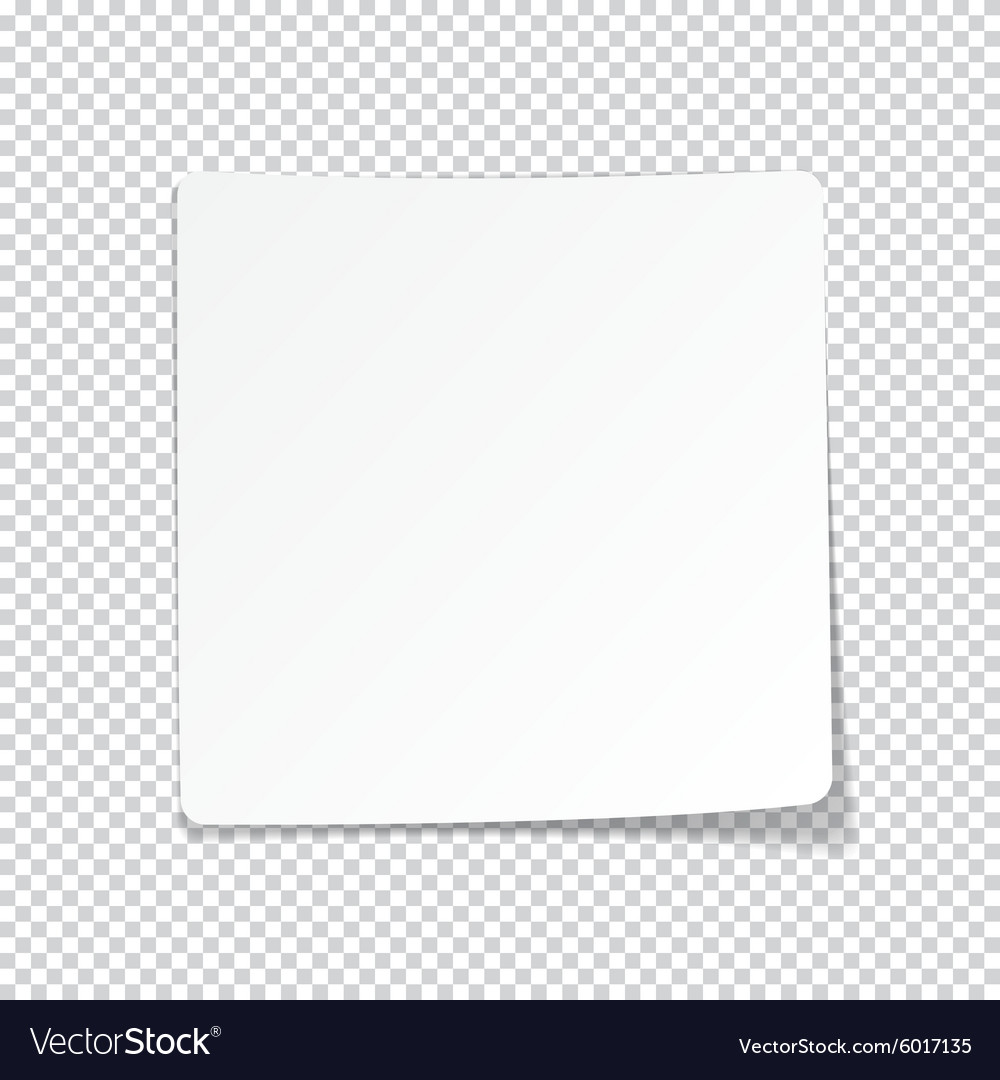 White paper sheet with shadow vector