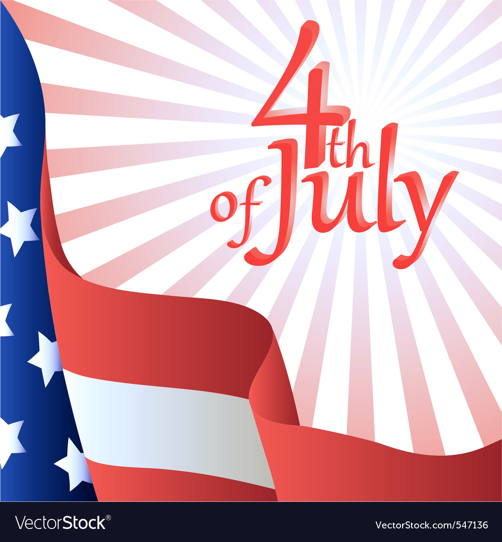 4th of july american flag vector