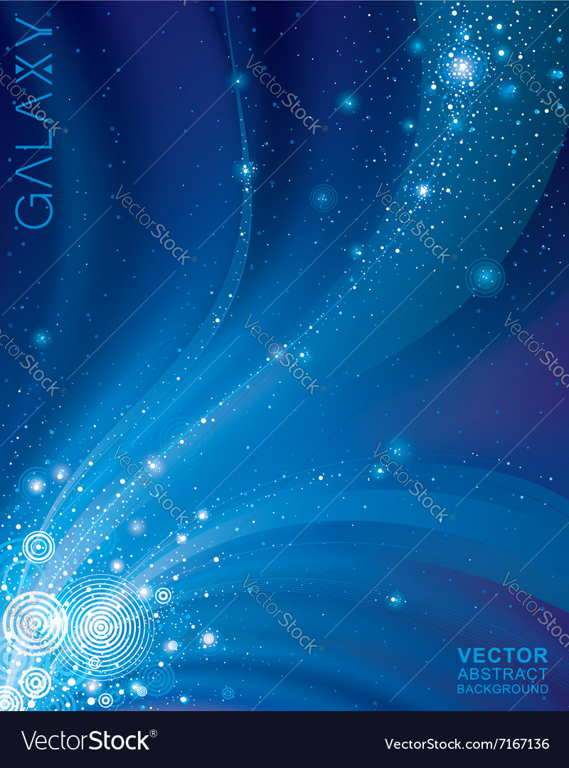 Abstract starry space vector